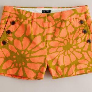 J Crew Floral Shorts Size 8